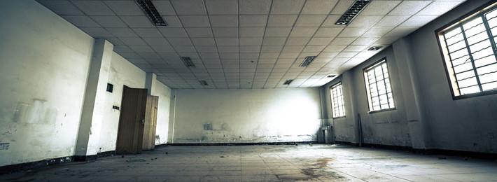 Dilapidated building interior