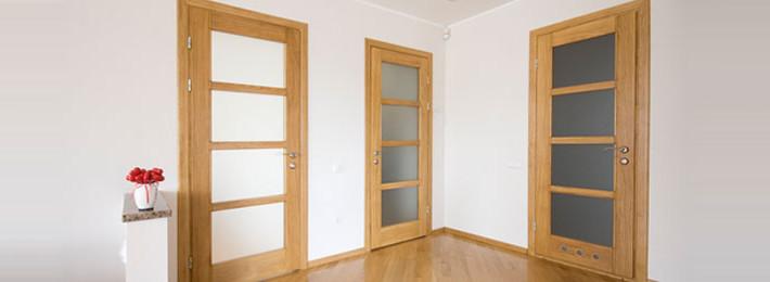 Joinery - wooden doors in hallway